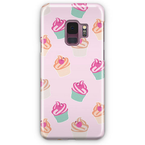 Pink Cup Cakes Samsung Galaxy S9 Case