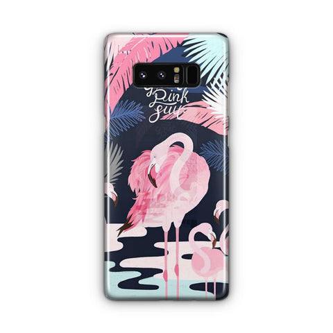 Pink Flamingo Artwork Samsung Galaxy Note 8 Case