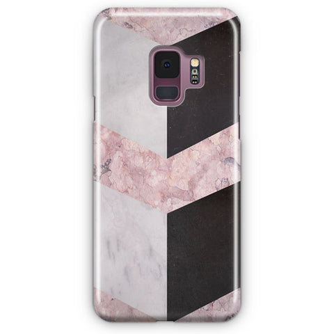 Pink Geometric Marble Samsung Galaxy S9 Case
