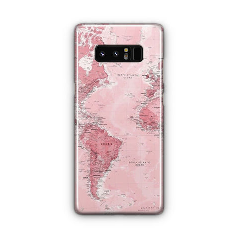 Pink Map Samsung Galaxy Note 8 Case