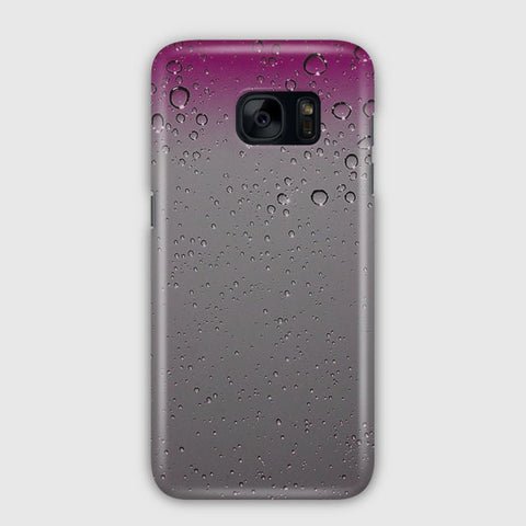 Pink Raindrops Samsung Galaxy S7 Edge Case