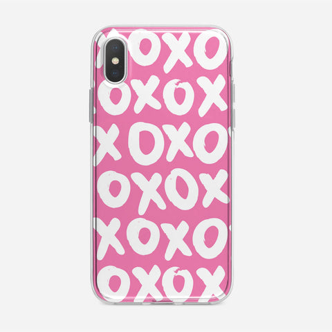Pink XOXO iPhone XS Case