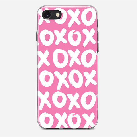 Pink XOXO iPhone 8 Case