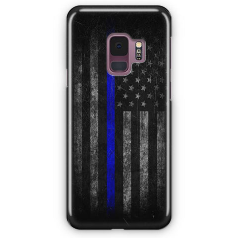 Police Thin Blue Line Samsung Galaxy S9 Case