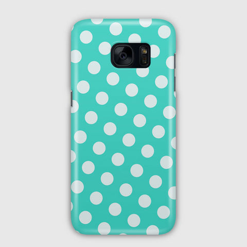 Polka Spots White Blue Samsung Galaxy S7 Edge Case