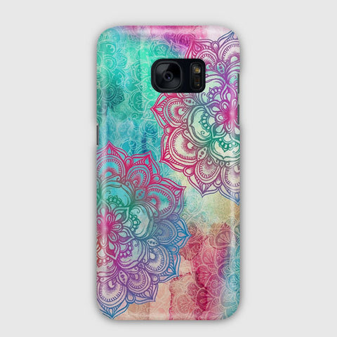 Rainbow Mandala Design Samsung Galaxy S7 Edge Case