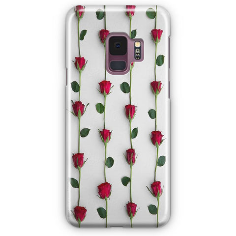 Red Rose Background Samsung Galaxy S9 Case