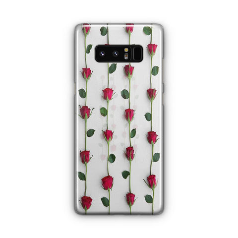 Red Rose Background Samsung Galaxy Note 8 Case