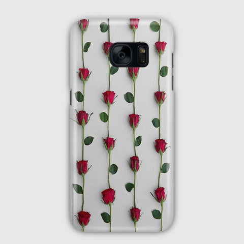 Red Rose Background Samsung Galaxy S7 Edge Case