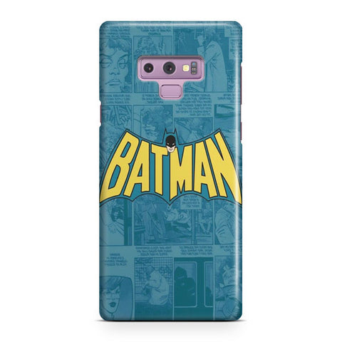 Batman Comics Logo Samsung Galaxy Note 9 Case