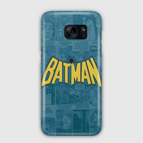 Batman Comics Logo Samsung Galaxy S7 Edge Case