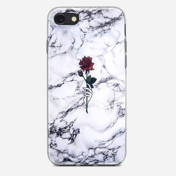 Rose Marble iPhone X Case