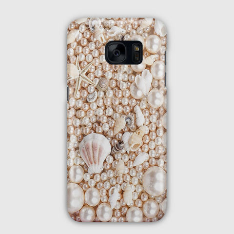 Seashells And Pearls Samsung Galaxy S7 Edge Case