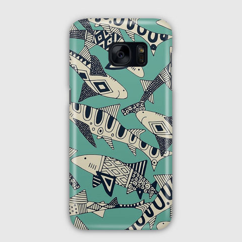 Shark Party Samsung Galaxy S7 Edge Case