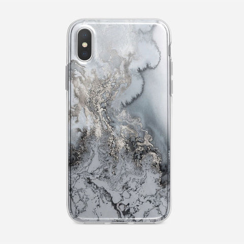 Silver Marble iPhone XS Case