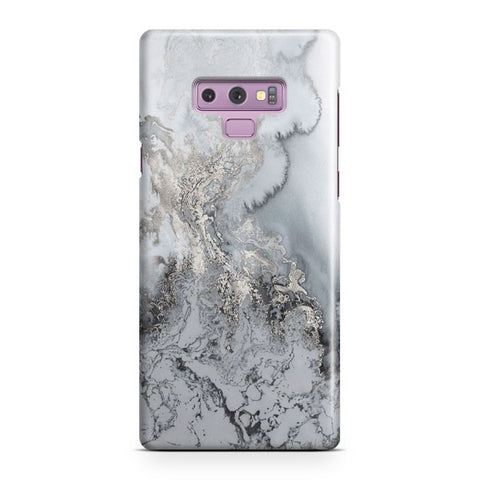 Silver Marble Samsung Galaxy Note 9 Case