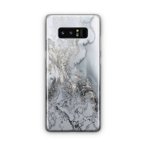 Silver Marble Samsung Galaxy Note 8 Case
