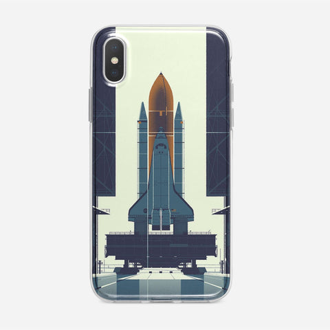 Space Ship Artwork iPhone XS Case