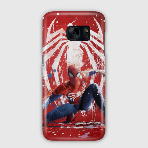 Spiderman Marvel Artwork Samsung Galaxy S7 Edge Case