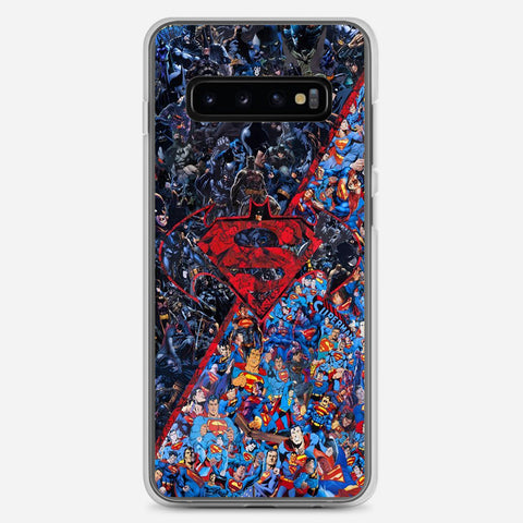 Batman v Superman Artwork Samsung Galaxy S10 Plus Case