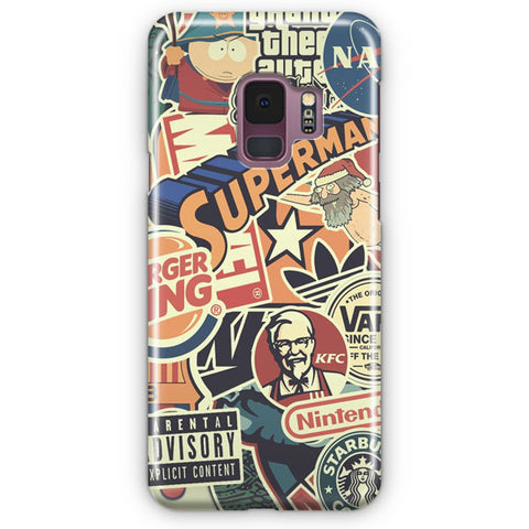 Sticker Bomb Samsung Galaxy S9 Case