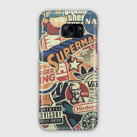 Sticker Bomb Samsung Galaxy S7 Edge Case