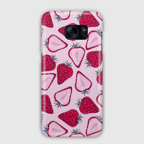 Strawberry Pattern Samsung Galaxy S7 Edge Case