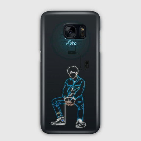 Suga BTS Fake Love Samsung Galaxy S7 Edge Case