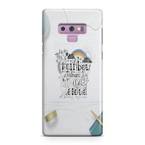 Be A Rainbow Quotes Samsung Galaxy Note 9 Case