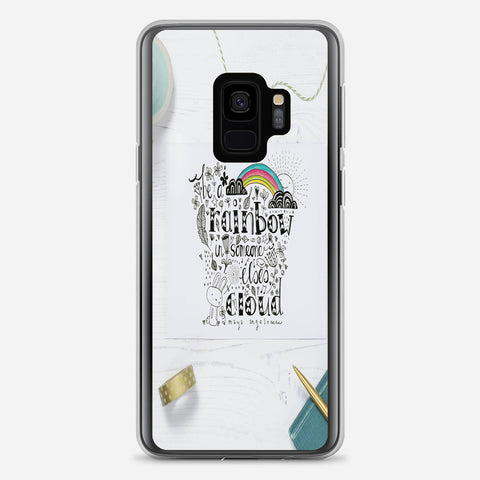 Be A Rainbow Quotes Samsung Galaxy S9 Case