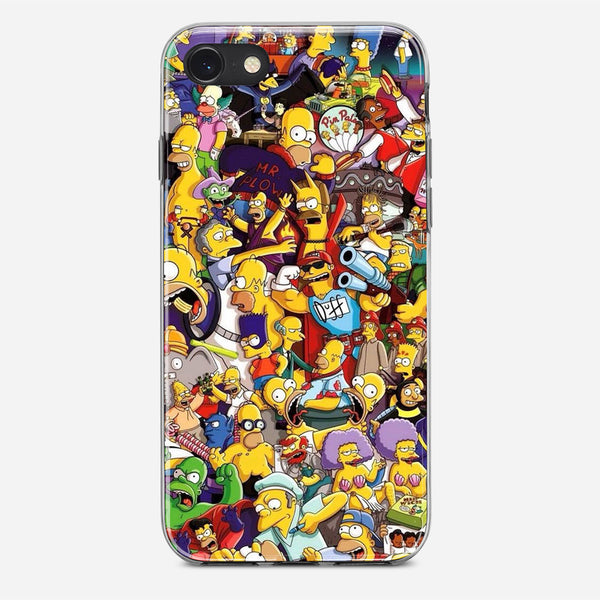 The Simpsons Pattern iPhone X Case