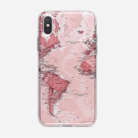 Pink Map iPhone XS Max Case