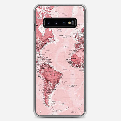 Pink Map Samsung Galaxy S10 Plus Case