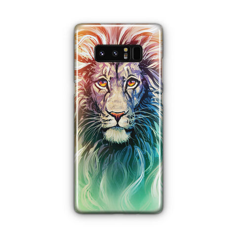 A Color Sketch Of A Fierce Lion Samsung Galaxy Note 8 Case