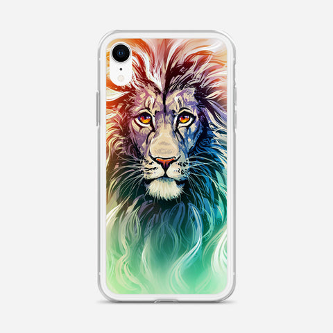 A Color Sketch Of A Fierce Lion iPhone XR Case