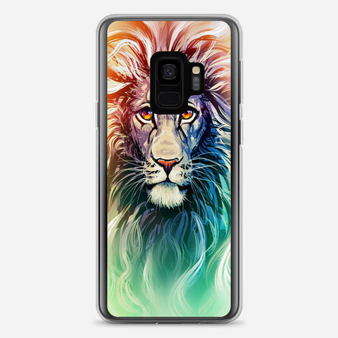 A Color Sketch Of A Fierce Lion Samsung Galaxy S9 Case