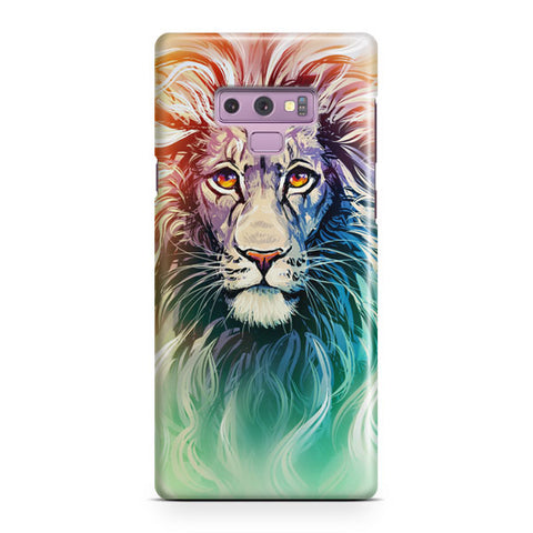 A Color Sketch Of A Fierce Lion Samsung Galaxy Note 9 Case