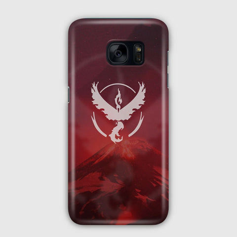 Valor Team Logo Red Fire Samsung Galaxy S7 Edge Case