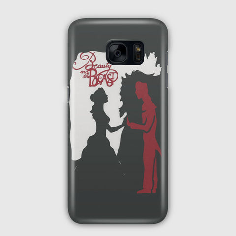 Beauty and the Beast Silhouette Samsung Galaxy S7 Edge Case