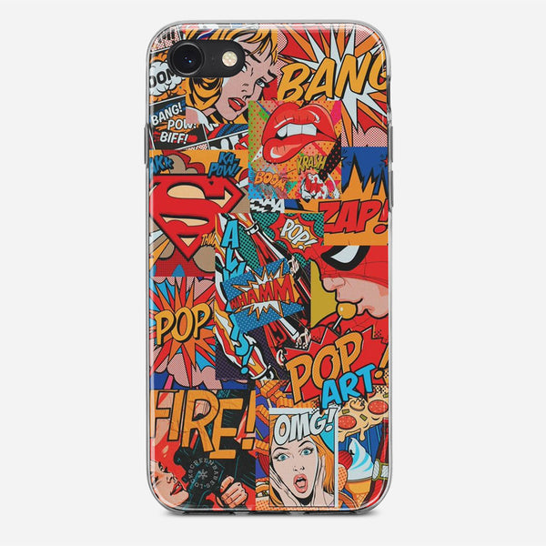 Vintage Comics Artwork iPhone X Case