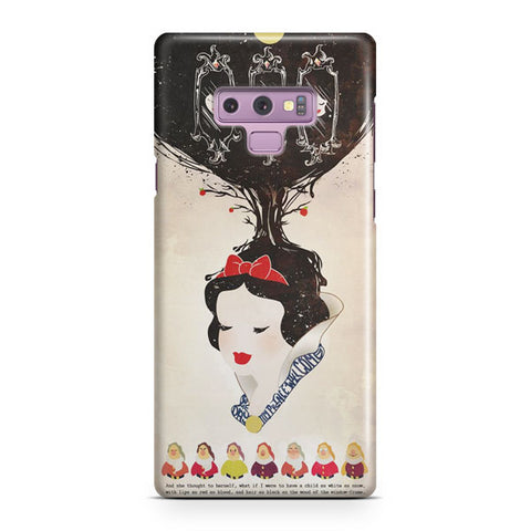 Vintage Disney Snow White Poster Samsung Galaxy Note 9 Case