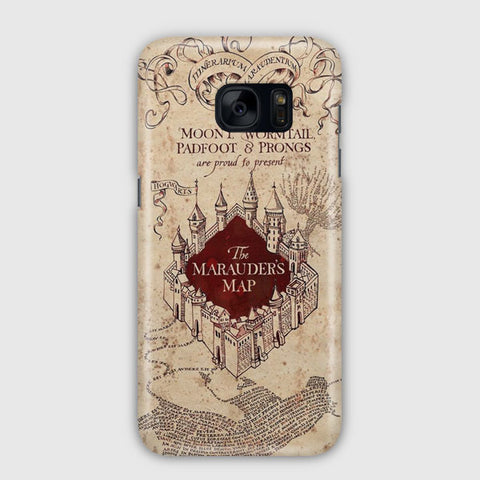 Vintage Harry Potter Map Samsung Galaxy S7 Edge Case