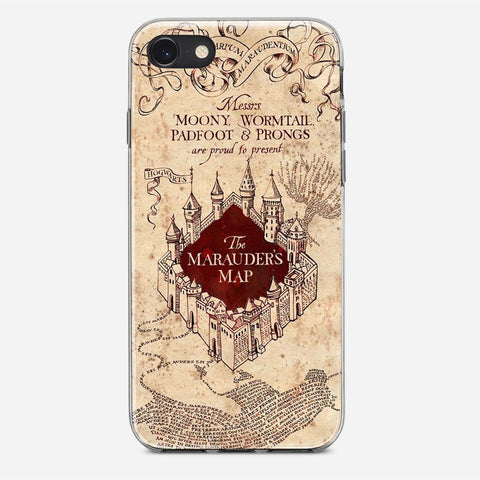 Vintage Harry Potter Map iPhone 8 Case