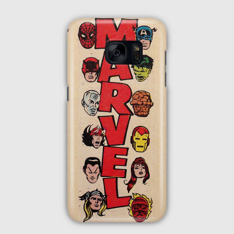 Vintage Marvel Heroes Samsung Galaxy S7 Edge Case