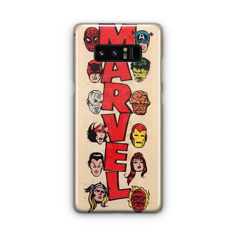 Vintage Marvel Heroes Samsung Galaxy Note 8 Case
