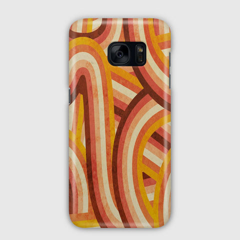 Vintage Orange 70 s Style Rainbow Samsung Galaxy S7 Edge Case