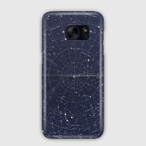 Vintage Star Map Samsung Galaxy S7 Edge Case
