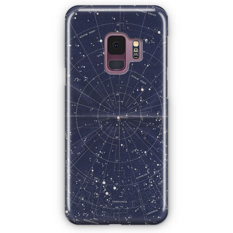 Vintage Star Map Samsung Galaxy S9 Case