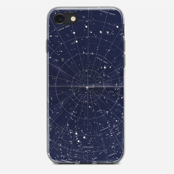 Vintage Star Map iPhone X Case