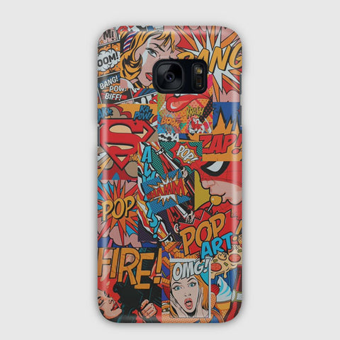 Vintage Superhero Comic Samsung Galaxy S7 Edge Case